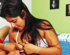 Indian Girl Breastfeeding Her Fixture 2585