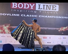 Indian female bodybuilder troop dance Europa Bhowmik