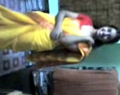 Indian lucknow sexually concupiscent sulky 10-Pounder strumpets freebooting saree after party